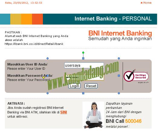 Cara Pembayaran Telephone menggunakan Internet Banking BNI ...