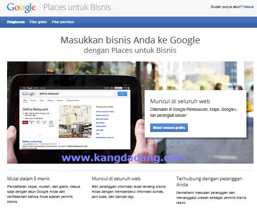 cara menambahkan lokasi bisnis di google place
