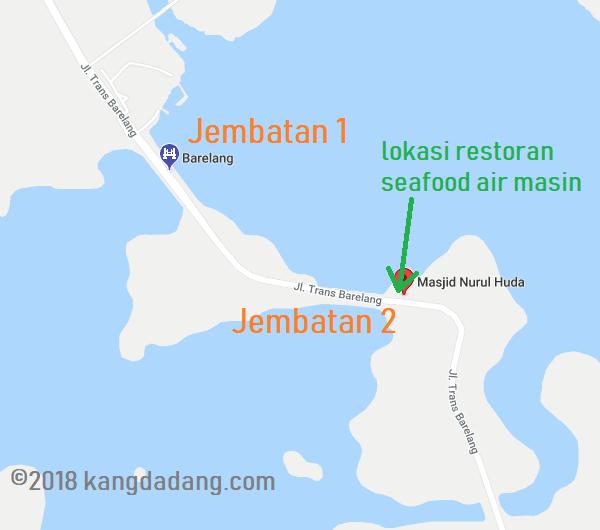 peta lokasi rumah makan seafood air masin batam
