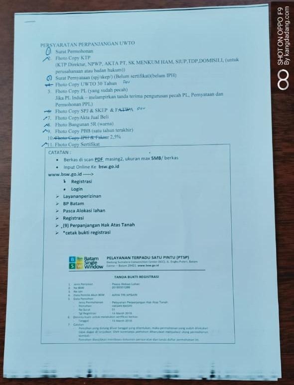 surat pernyataan perpanjangan uwto